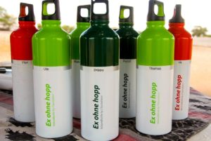 Wasserflasche Chamäleon