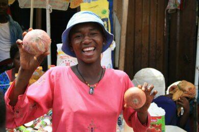Marktgeschehen in Ghana