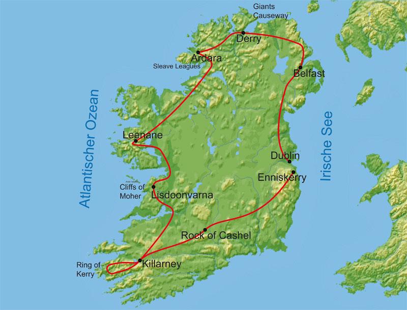 Irland Karte Rundreise.Die Grosse Irland Rundreise Forum Anders Reisen Reiseland