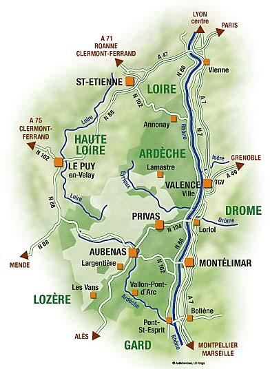Cevennen Karte.Top 10 Punto Medio Noticias Ardeche Frankreich Karte